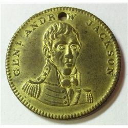 """1828 ANDREW JACKSON ELECTION MEDAL """"HERO OF NEW ORLEANS"""" CH BU"""