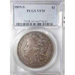 1895S Morgan $  PCGS20