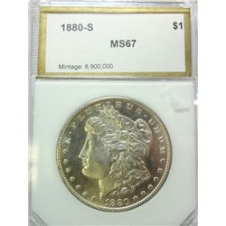 1880-S MORGAN DOLLAR PCI MS-67