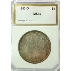 1883-O MORGAN DOLLAR PCI MS-65