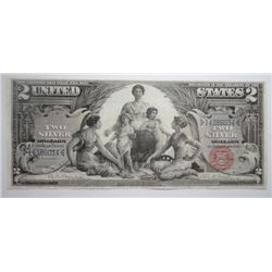 1896 $2 SILVER CERTIFICATE EDUCATIONAL XF NICE