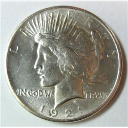 1921 HIGH RELIEF PEACE DOLLAR MS-63