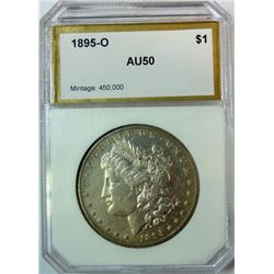 1895-O MORGAN DOLLAR PCI AU-50