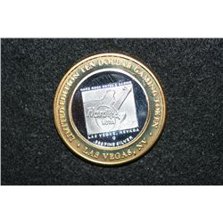 Hard Rock Hotel, Limited Edition Two-Tone $10 Gaming Token, .999 Fine