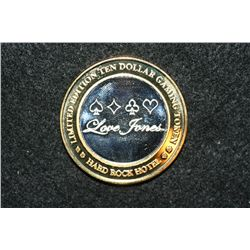 "Hard Rock Hotel, Limited Edition Two-Tone $10 Gaming Token ""Love Jones"", .999 Fine"
