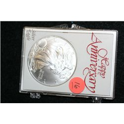 "2010 Silver Eagle $1, ""Happy Anniversary"""