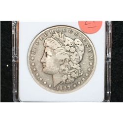1903-S Silver Morgan $1, MCPCG Graded VF-20