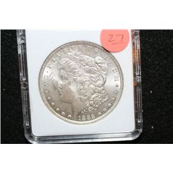 1885 Silver Morgan $1, MCPCG Graded MS63