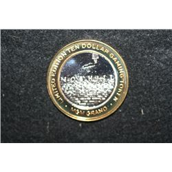"MGM Gram ""Nobhill"", Limited Edition Two-Tone $10 Gaming Token, .999 Fine"