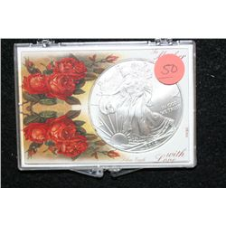 """2010 Silver Eagle $1, """"To Mother with Love"""""""