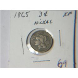 1865 3 CENT NICKLE