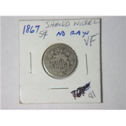 1867 SHIELD NICKLE