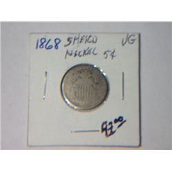 1868 SHIELD NICKLE