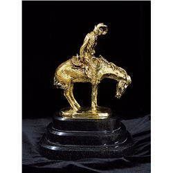 Remington Limited Edition 24K Gold Layered Bronze Sculpture-Norther