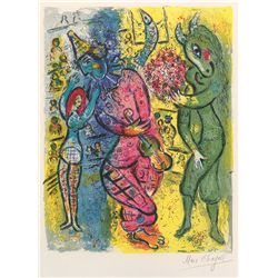 Le Cirque 6- Chagall - Limited Edition on Canvas