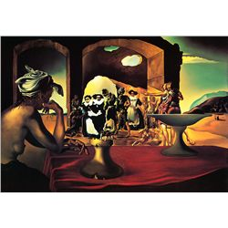 Slave Market Bust Of Voltaire - Dali - Limited Edition on Canvas