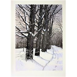 Helen Rundell Signed and Numbered Original Lithograph - Country Lane