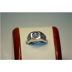 Men's 14 kt White Gold Diamond Ring