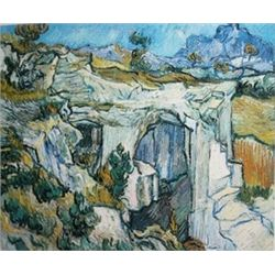 Entrance to a Quarry by Vincent Van Gogh  Lithograph