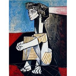 Limited Edition Picasso - Jacqueline With Crossed Hands - Collection Domaine Picasso