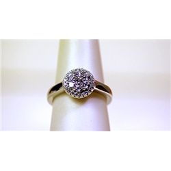Lady's Beautiful Sterling Silver White Sapphire Ring