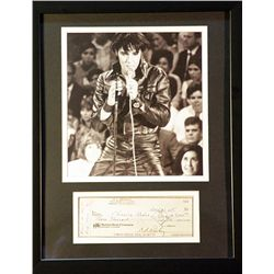 Elvis   Giclee with  Image of a real check