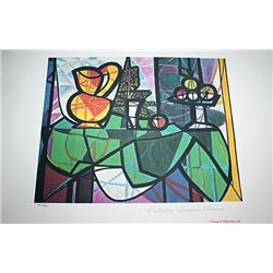 Limited Edition Picasso - Pitcher And A Bowl Of Fruit - Collection Domaine Picasso
