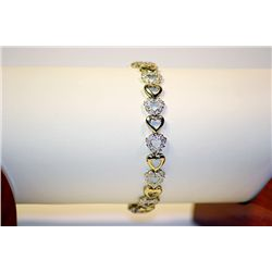Lady's Fancy 10 kt Yellow Gold 7  Diamond Bracelet