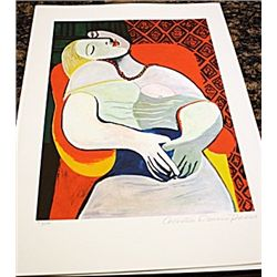 Picasso Signed and Numbered Lithograph - The Dream