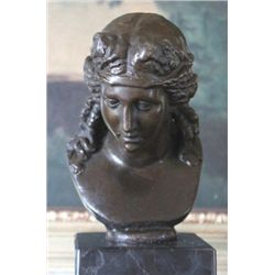 Beautiful Female Bust Bronze Sculpture After Fix Mass