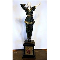 Pajama Girl - Bronze and Ivory Sculpture by Chiparus