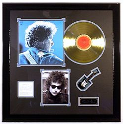 Bob Dylan Giclee and Gold Record