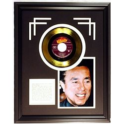 Smokey Robinson  Giclee with Gold Record
