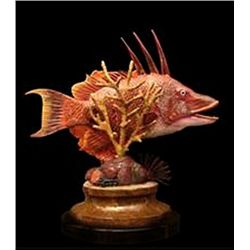 Bronze Sculpture - Hog Fish by J. Townsend