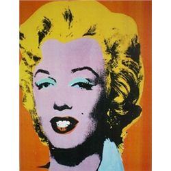 Orange Marilyn by Andy Warhol  Lithograph