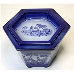 Romantic Flo Blue Staffordshire Porcelain
