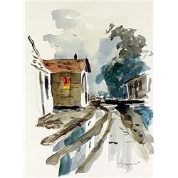 Original Water Color on Paper Hand Signed by Michael Schofield