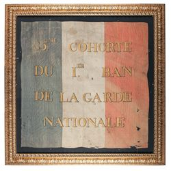 Highly Scarce Flag for the 85th Cohort of Napoleon's French National Guard