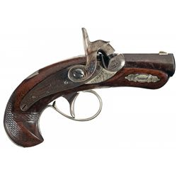 "Henry Derringer Philadelphia Production Silver Banded ""Peanut"" Size Percussion Pocket Pistol"