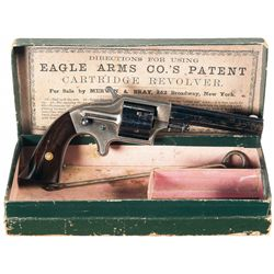 Scarce Eagle Arms Co. Patent Front Loading Cartridge Pocket Revolver with Original Picture Box