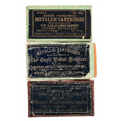 Three Rare Boxes of Antique Metallic Cartridges