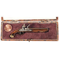 Miniature English Martial Flintlock Pistol