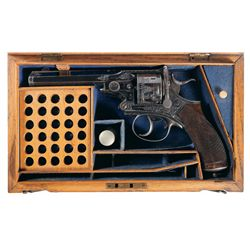 Excellent Fine Cased Engraved Webley Pryse Double-Action Revolver