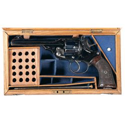 "Excellent Cased Military Proofed Webley .450/455 ""WG"" Target Model Double Action Revolver with Milit"
