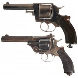 Collector's Lot of Two English Double Action Revolvers