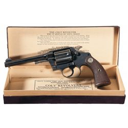 Excellent Pre-War Colt Police Positive Double Action Revolver with Box