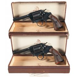 Collector's Lot of Two Boxed Colt Police Positive Double Action Revolvers