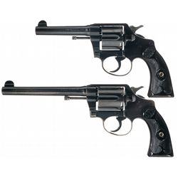 Collector's Lot of Two Colt Police Positives in Different Calibers and Barrel Lengths