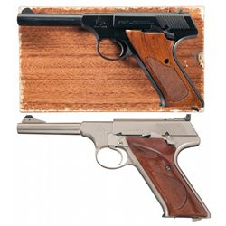 Two Colt Woodsman Series Semi-Automatic Pistols