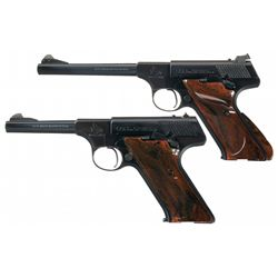 Two Colt Woodsman Semi-Automatic Pistols